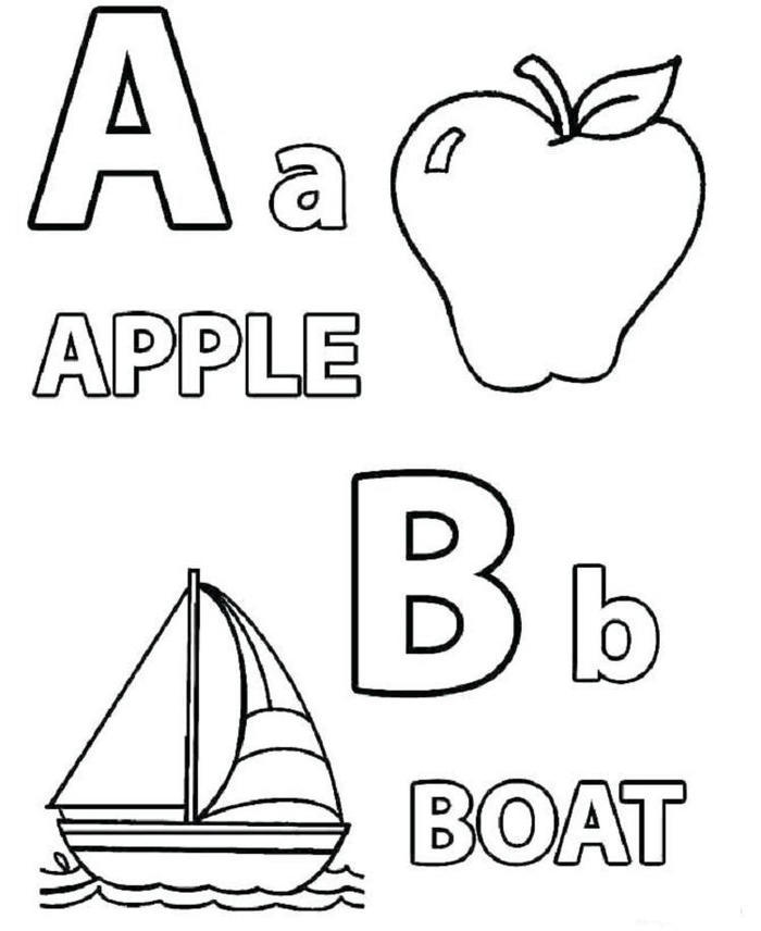 Toddlers Coloring Pages Letter