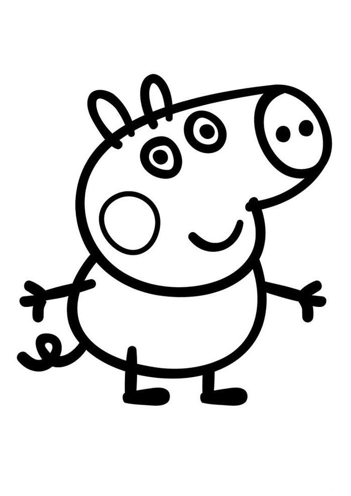 Toddlers Coloring Pages Peppa Pig