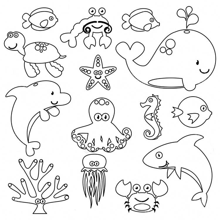 Toddlers Coloring Pages Sea Animals