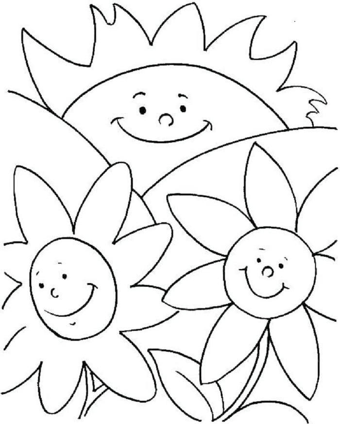 Toddlers Coloring Pages Summer