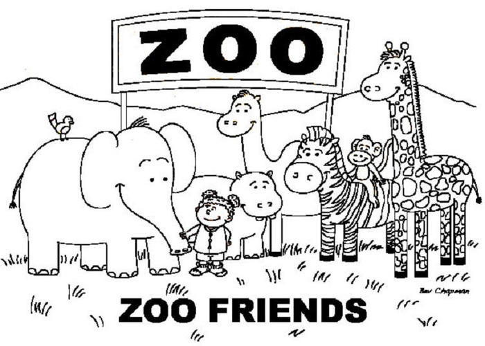 Toddlers Coloring Pages Zoo Animals