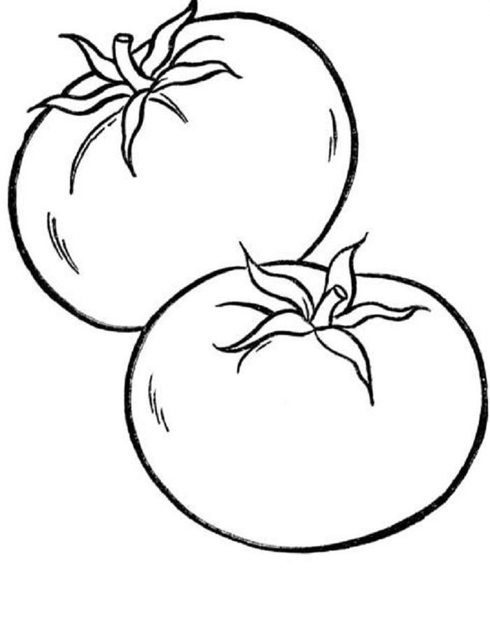 Tomato Vegetables Coloring Pages