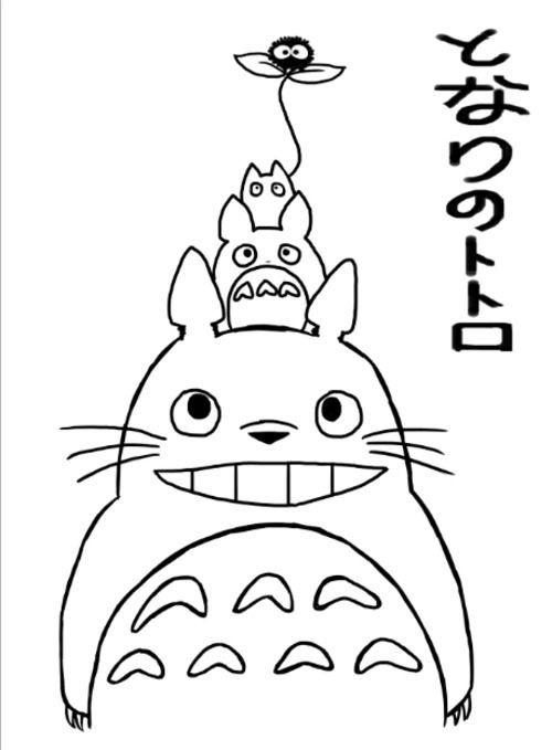 Tonari No Totoro Coloring Sheet