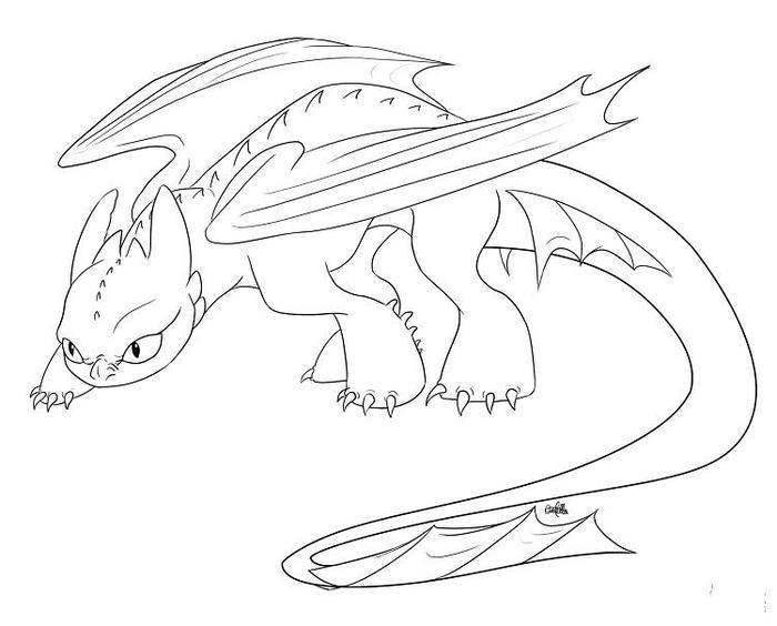 Toothless Dragons Coloring Pages