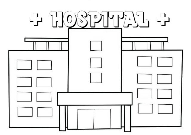 Top Modern Hospital Coloring Pages
