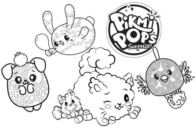 Top Pikmi Pops Characters Coloring Pages
