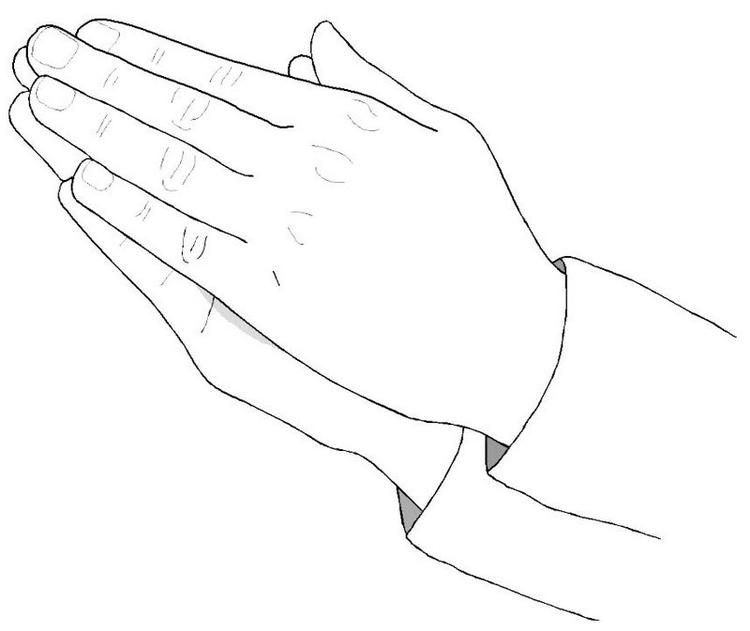 Top Praying Hands Coloring Page