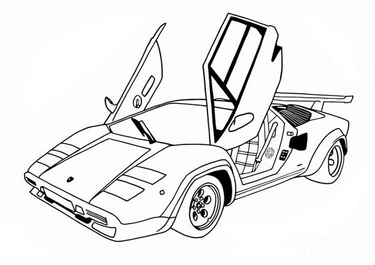 Top Speed Racing Car Coloring Page