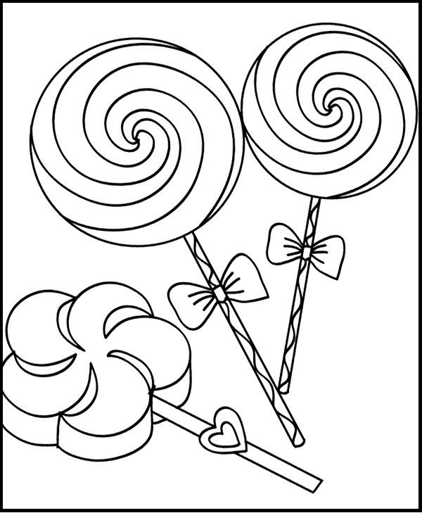 Totally Sweet Candy Coloring Page