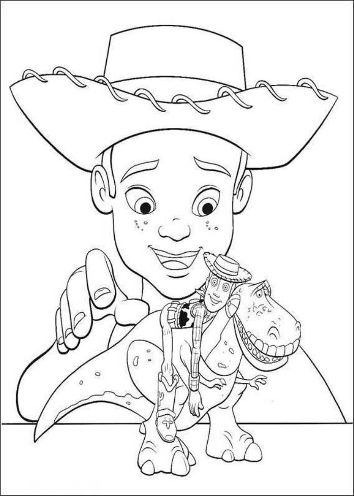 Toy Story 3 Andy And His Toys Coloring Pages