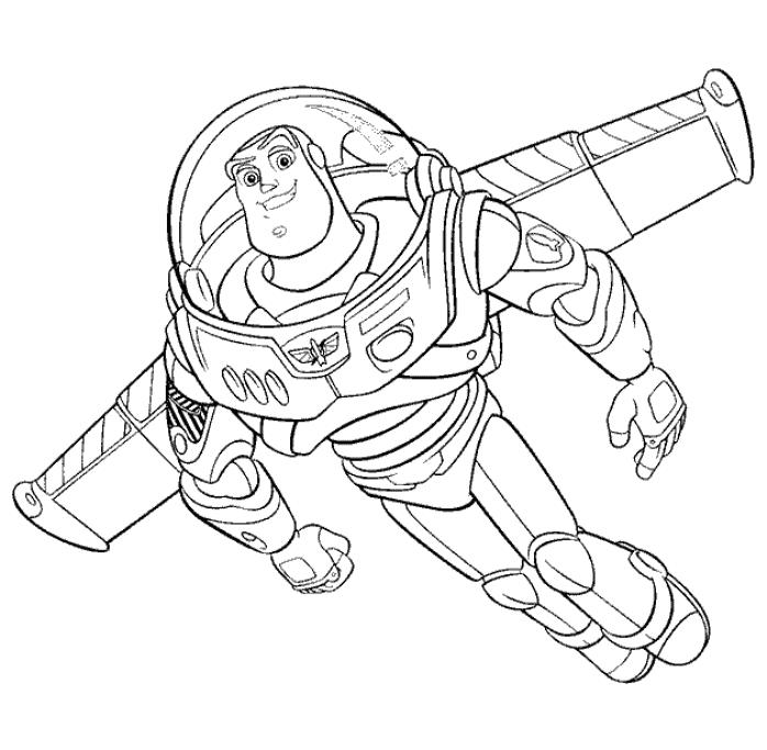 Toy Story Buzzlightyear Flying Coloring Page