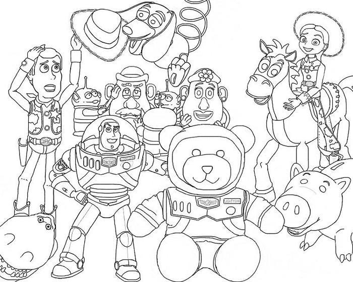Toy Story Coloring Pages Printable