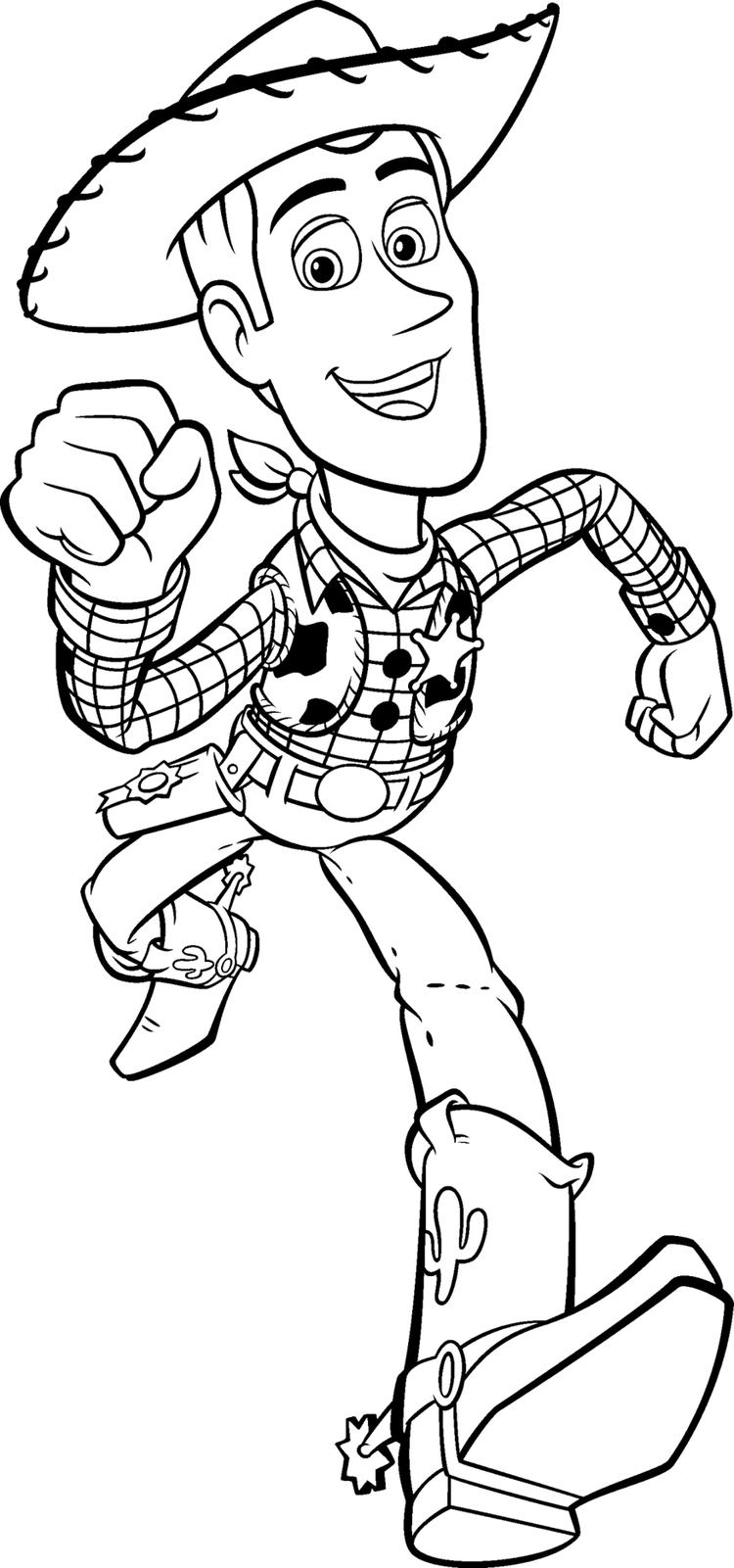 Toy Story Coloring Pages Woody Running