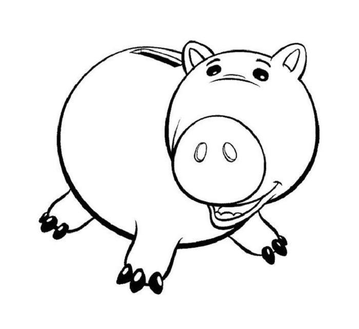 Toy Story Hamm Coloring Pages