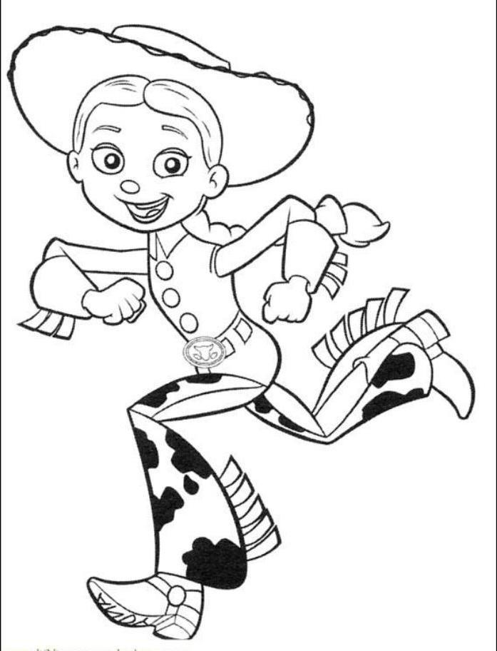 Toy Story Jesse Run Coloring Page
