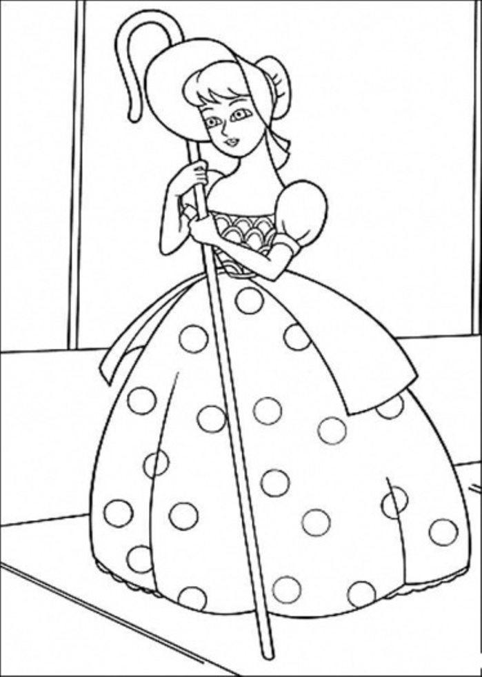 Toy Story Pretty Doll Coloring Page