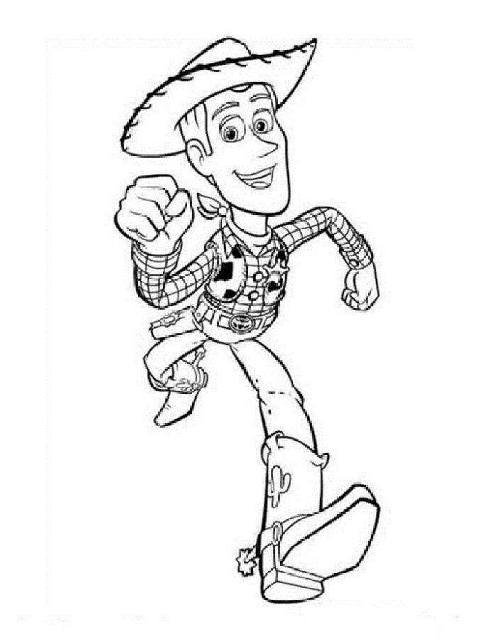 Toy Story Woody Coloring Pages
