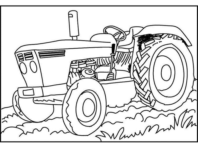 Tractor Coloring Pages For Kindergarten