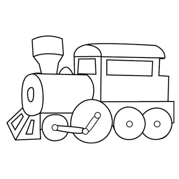 Train Coloring Pages For Toddler