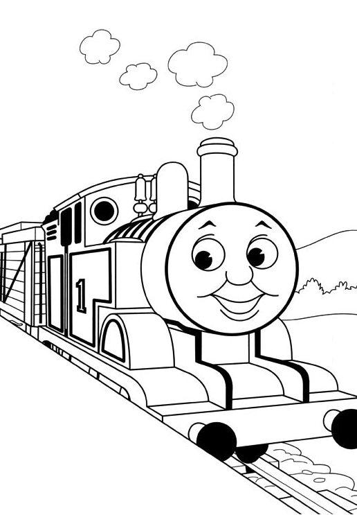 Train Coloring Pages Thomas