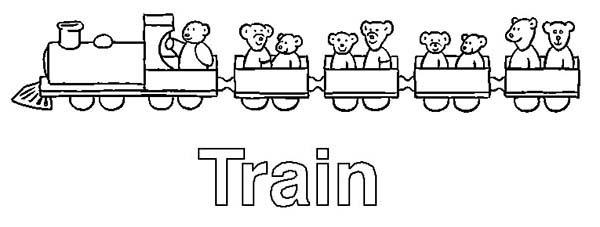 Train Is For Letter T Coloring Page