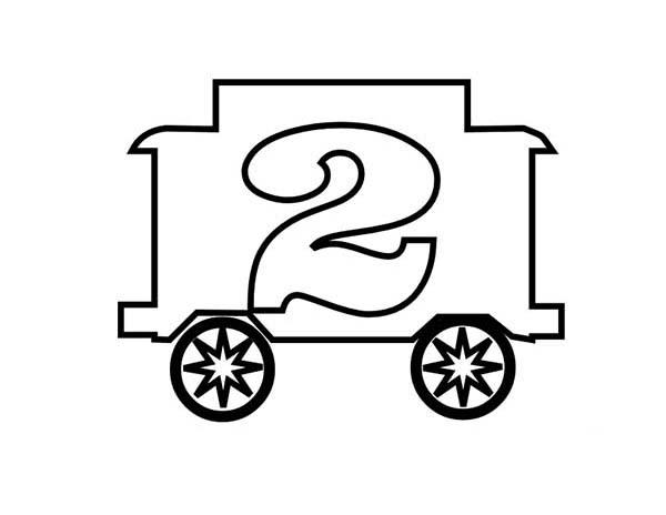 Train Number 2 Coloring Page