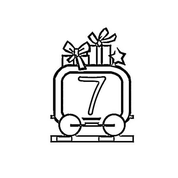 Train Number 7 Coloring Page