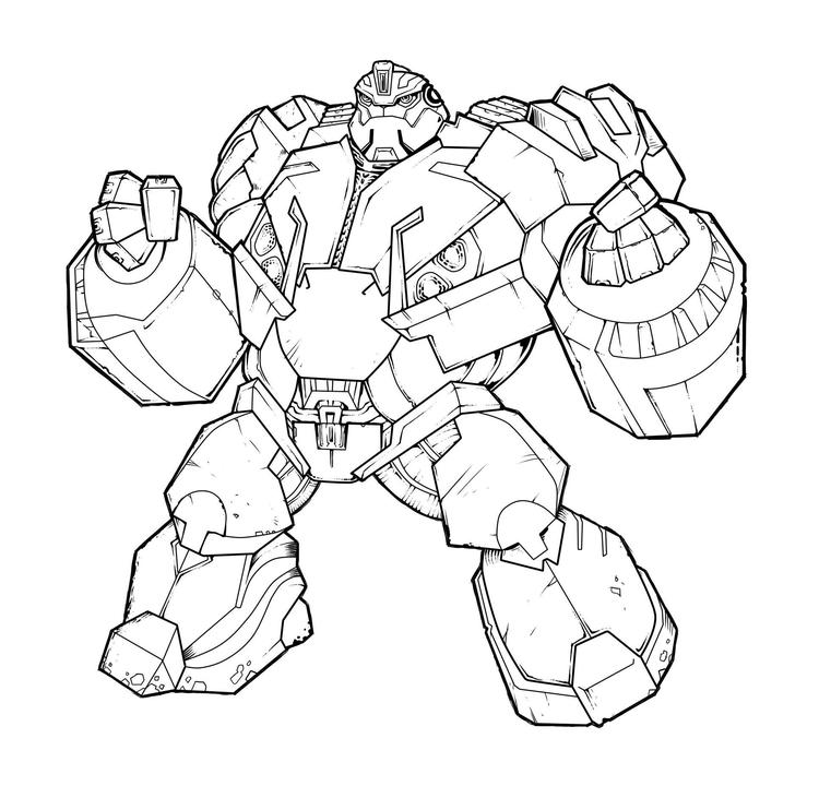 Transformer Coloring Pages Autobots Hound