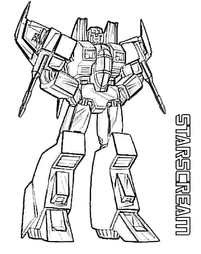 Transformer Coloring Pages Starscream