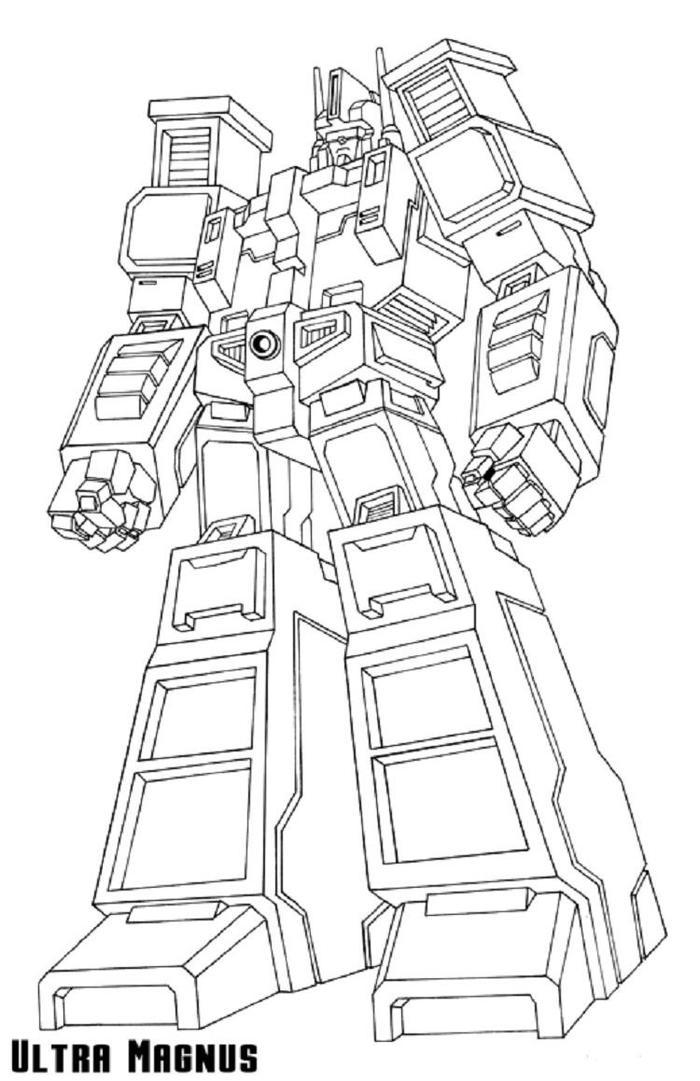 Transformers Coloring Pages Ultra Magnus