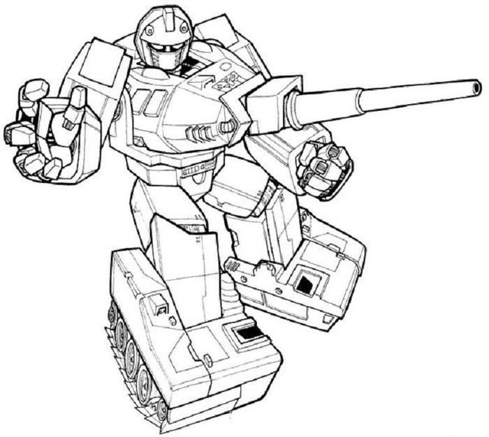 Transformers Coloring Pages Warpath