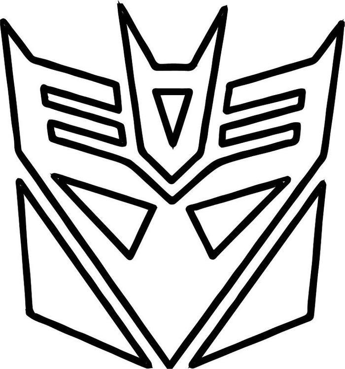 Transformers Logo Coloring Pages