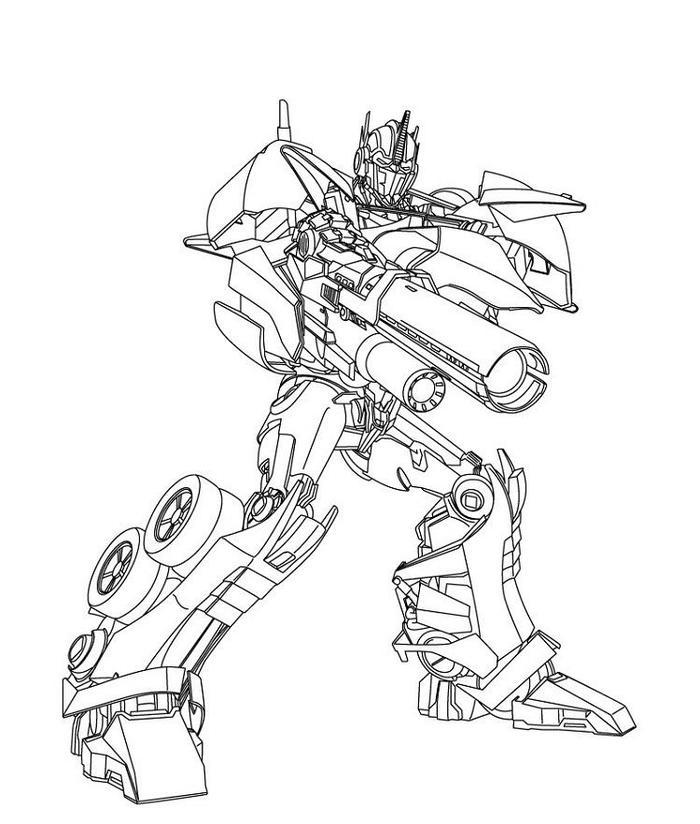 Transformers Prime Coloring Pages