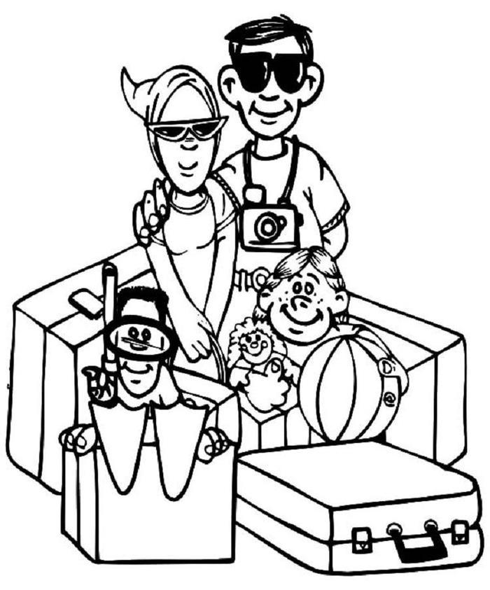Travel Vacation Coloring Pages