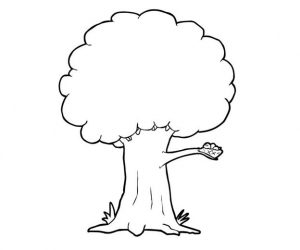 Tree coloring pages with bird nest