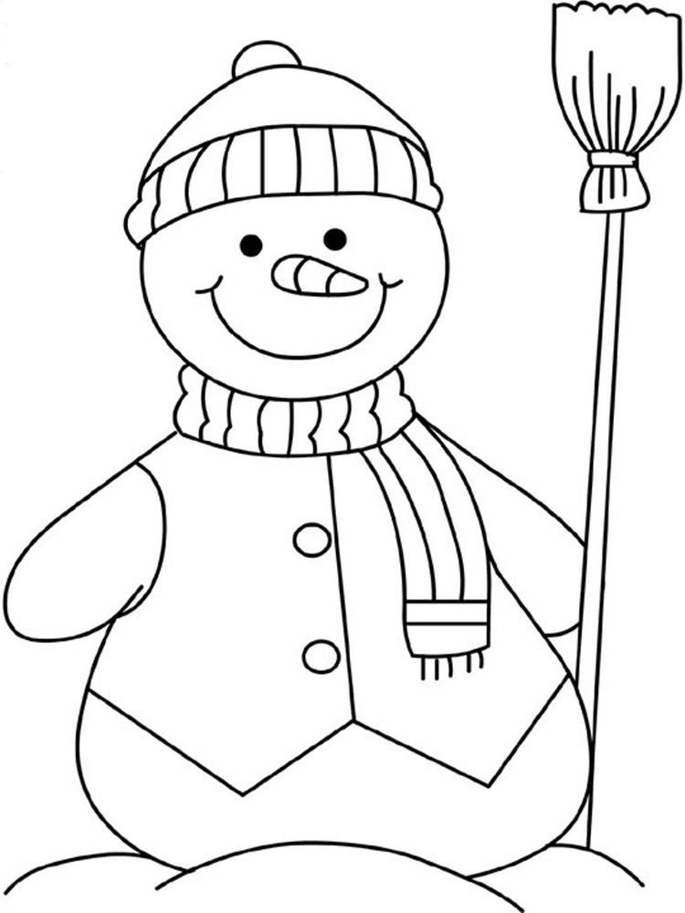 Trend Snowman Coloring Pages In Coloring Print With Snowman