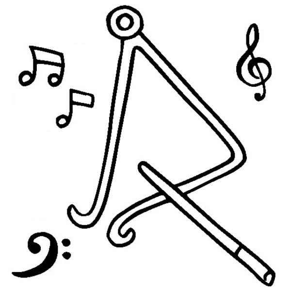 Triangle Is A Musical Instruments Coloring Pages