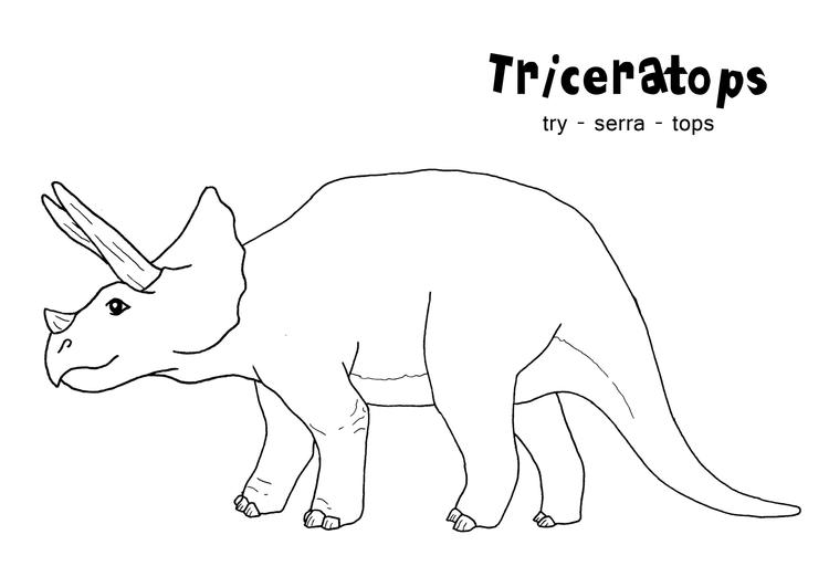 Triceratops Coloring Pages Printable Dinosaurs