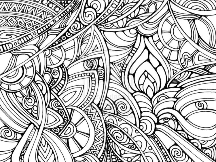 Trippy Coloring Pages Abstract - Coloring Ideas