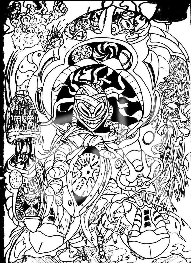 Trippy Coloring Pages To Print
