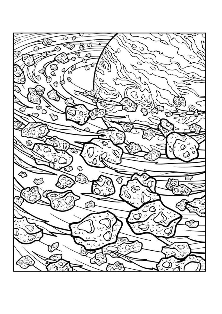 Trippy Space Coloring Pages For Adults