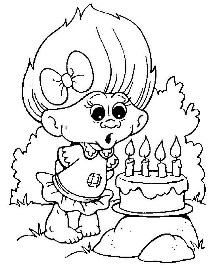 Trolls Character Coloring Pages