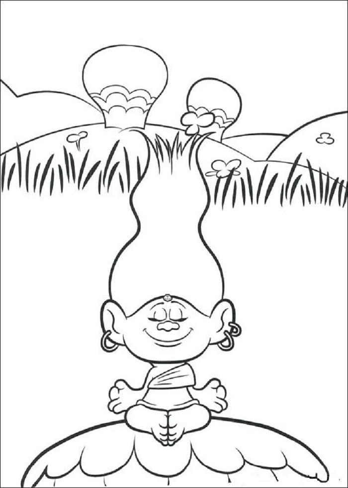 Trolls Coloring Pages Free