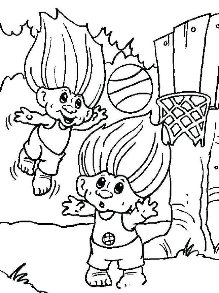 Trolls Coloring Pages Kids
