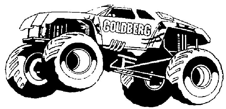 Truck Coloring Pages Big Monster Truck