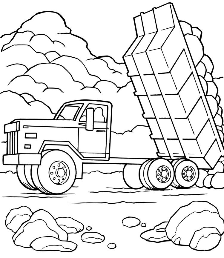 Truck Coloring Pages Dump Truck Printable