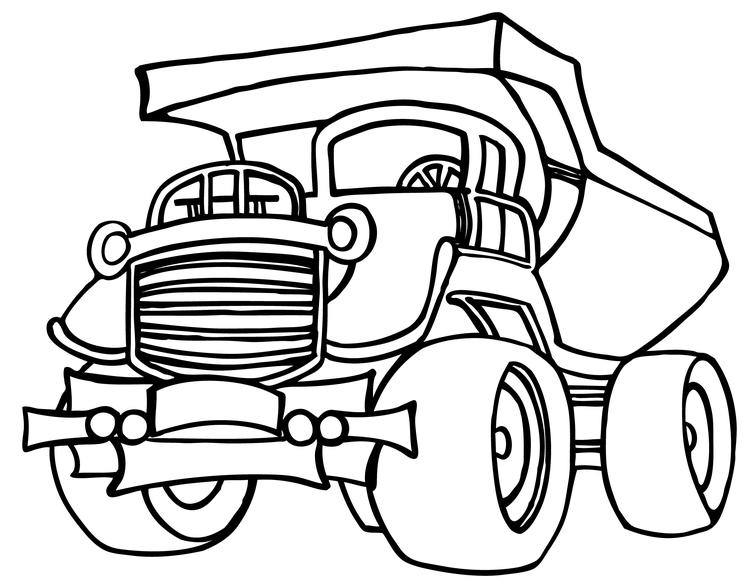 Truck Coloring Pages Haul Truck