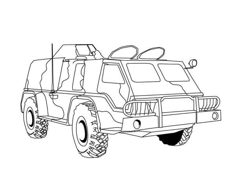 Truck Coloring Pages Military Truck