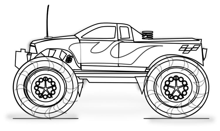 Truck Coloring Pages Monster Truck