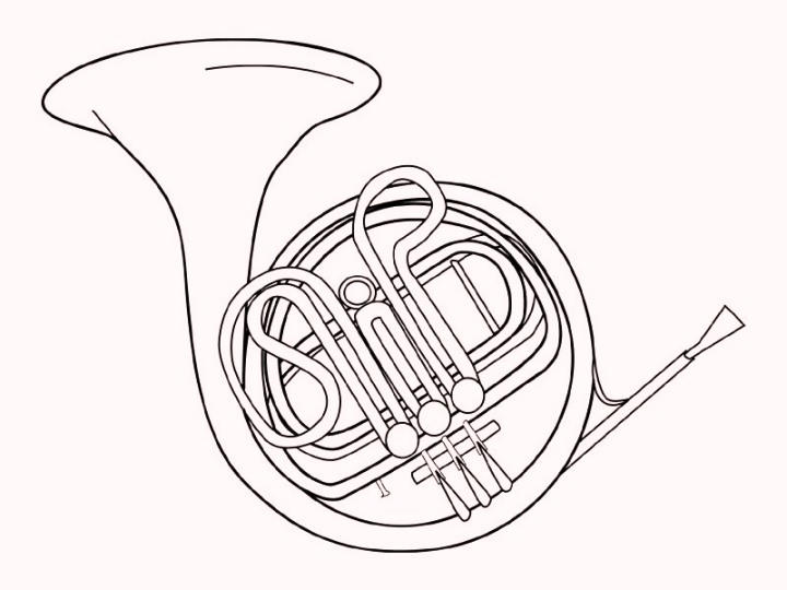 Trumpet Music Instrument Coloring Pages